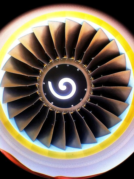 Each CFM-56 engine puts out 27,000 pounds of thrust at full power