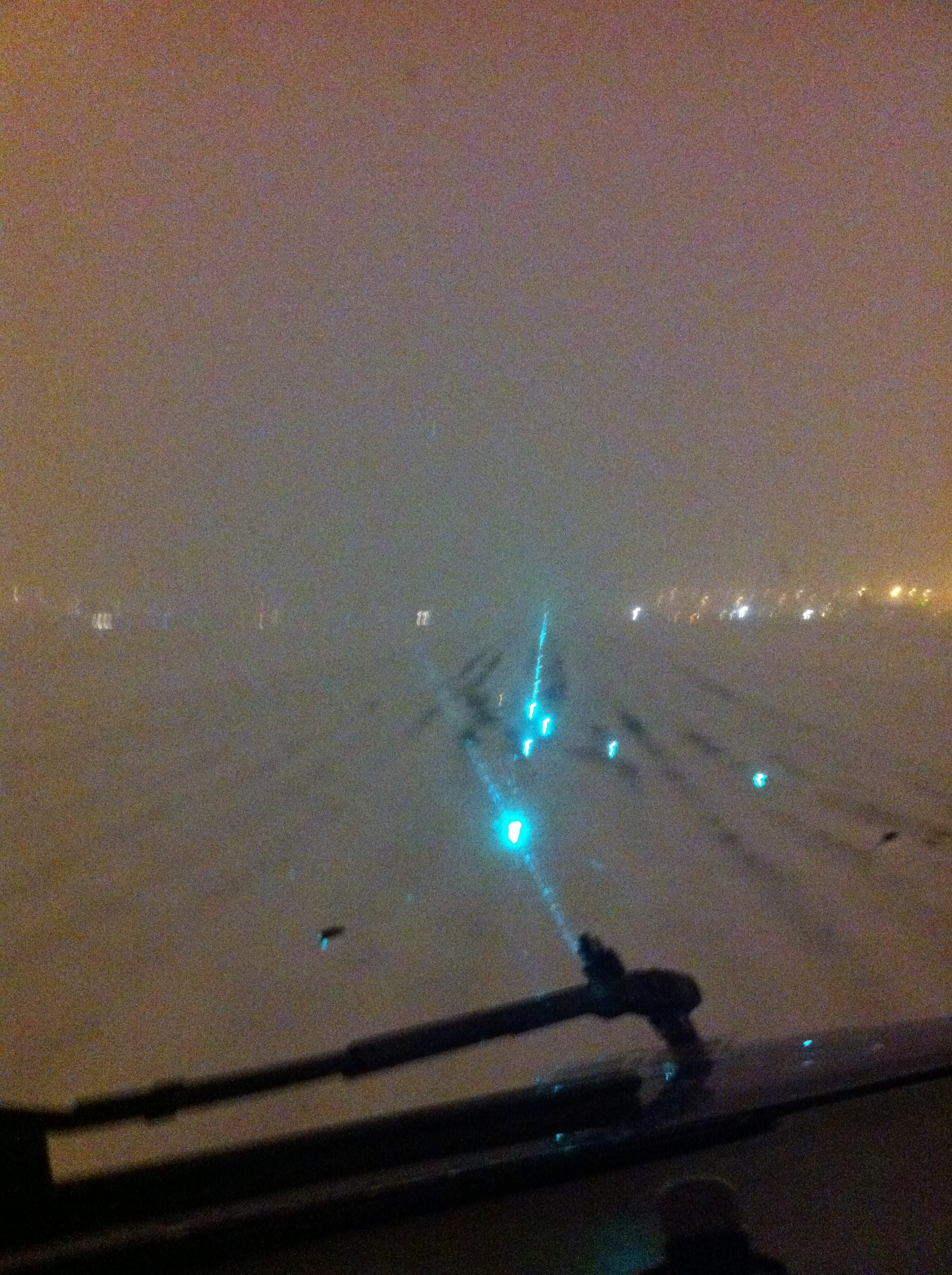 Whatever the visibility, the Boeing-737-800 at my airline is landed by hand.