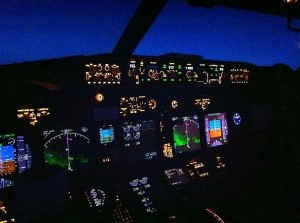 night cockpit