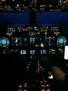 cockpit night