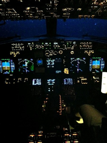 cockpit night