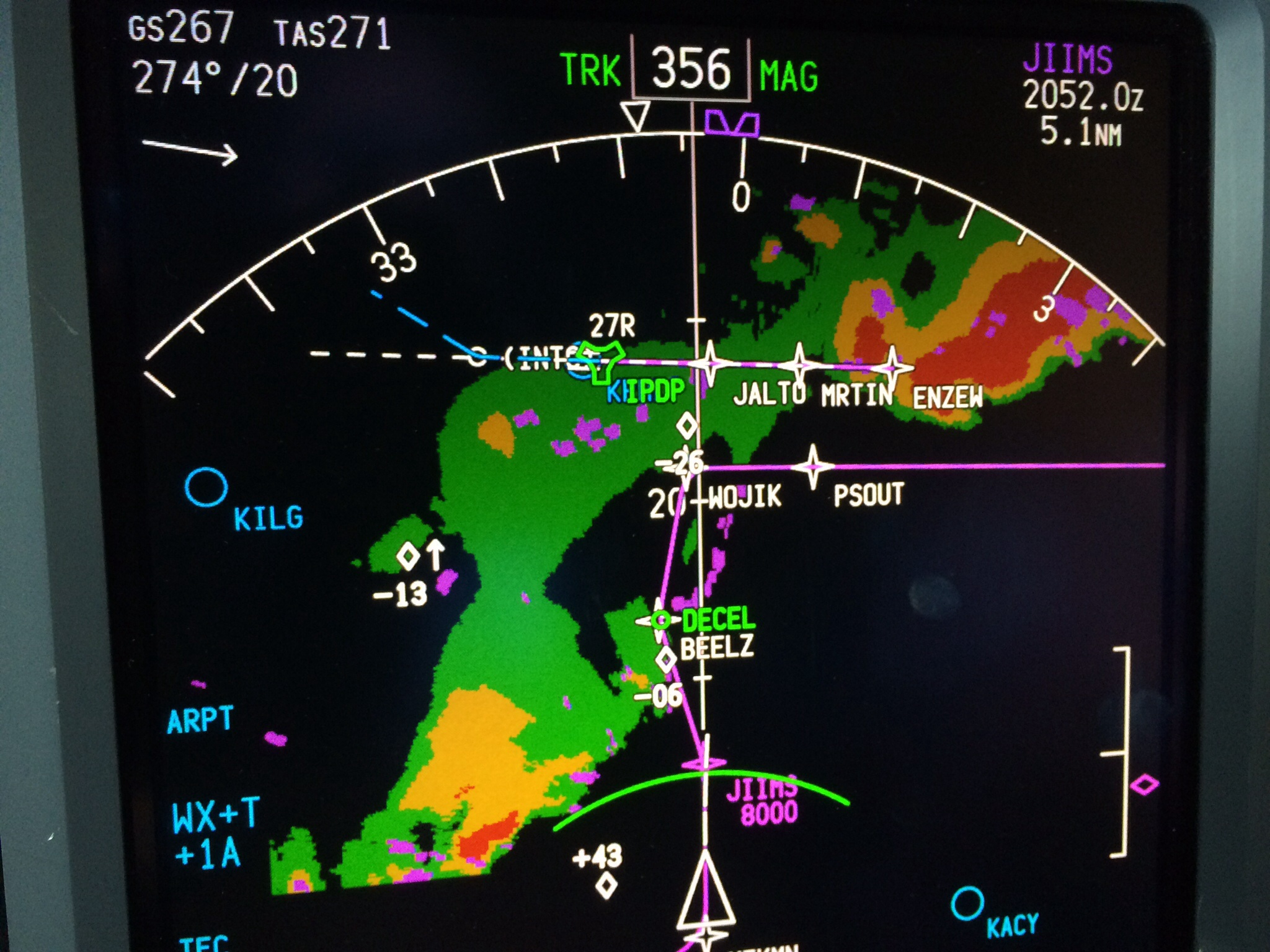 Air traffic control weather report