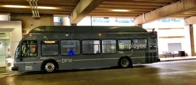DFW airport employee bus
