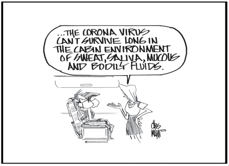 air corona virus cabin environment
